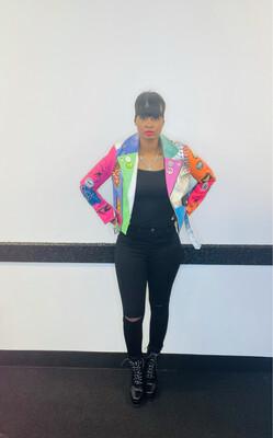 Self Love Multi Color Fashion Jacket