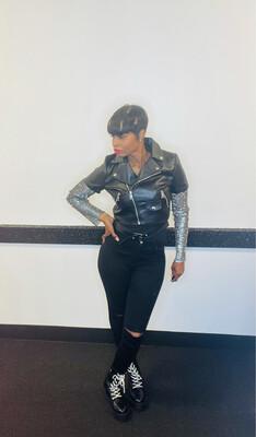 Black Bling Sleeve Jacket