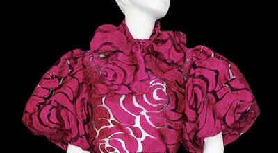 Raspberry Lace Bow Top