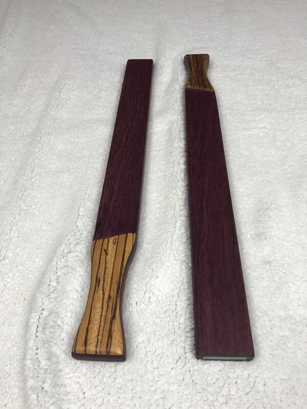 Wood and Steel - 2.5 lbs - Purple Heart with Zebrawood
