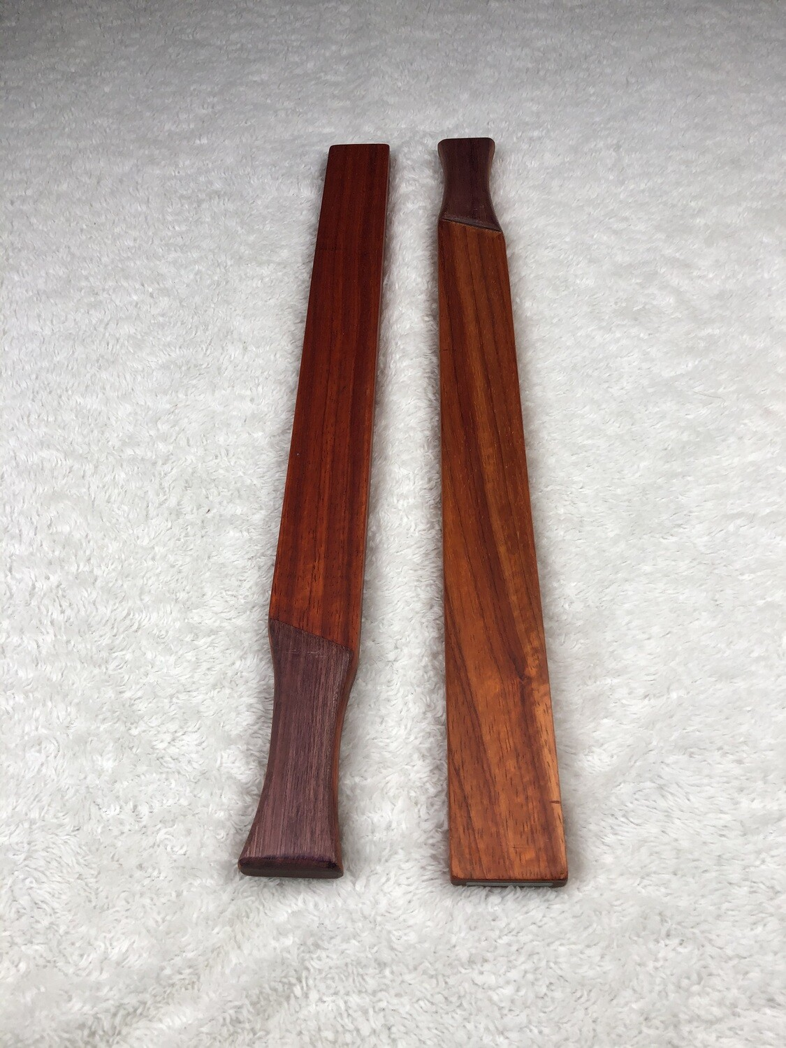 Tai Chi Sticks - 2.5 lbs - Padauk with Purple Heart Handles