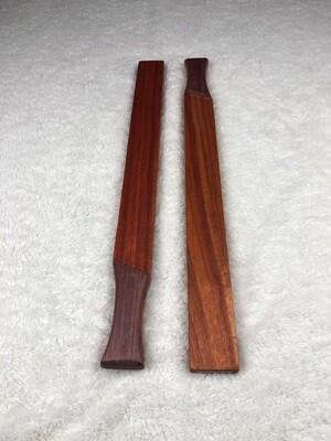Tai Chi Sticks - 2.5 lbs - Padauk with Purple Heart Handles