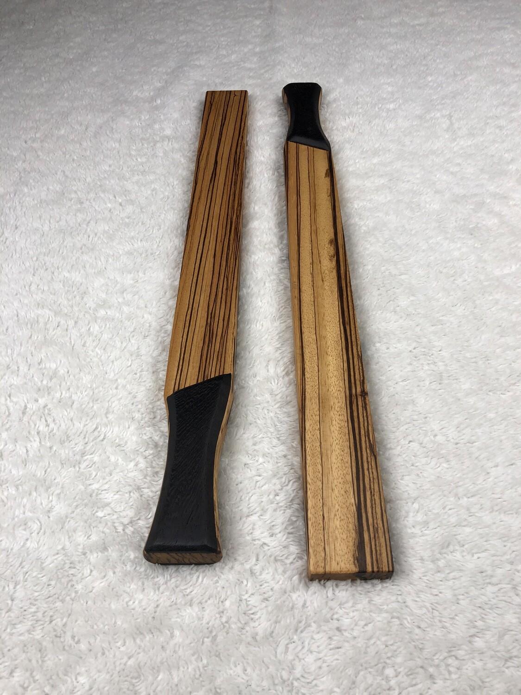Tai Chi Sticks - 1.5 lbs Zebrawood with Wenge Handles