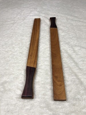 Tai Chi Sticks - 1 lbs Mahogany with Purple Heart Handles