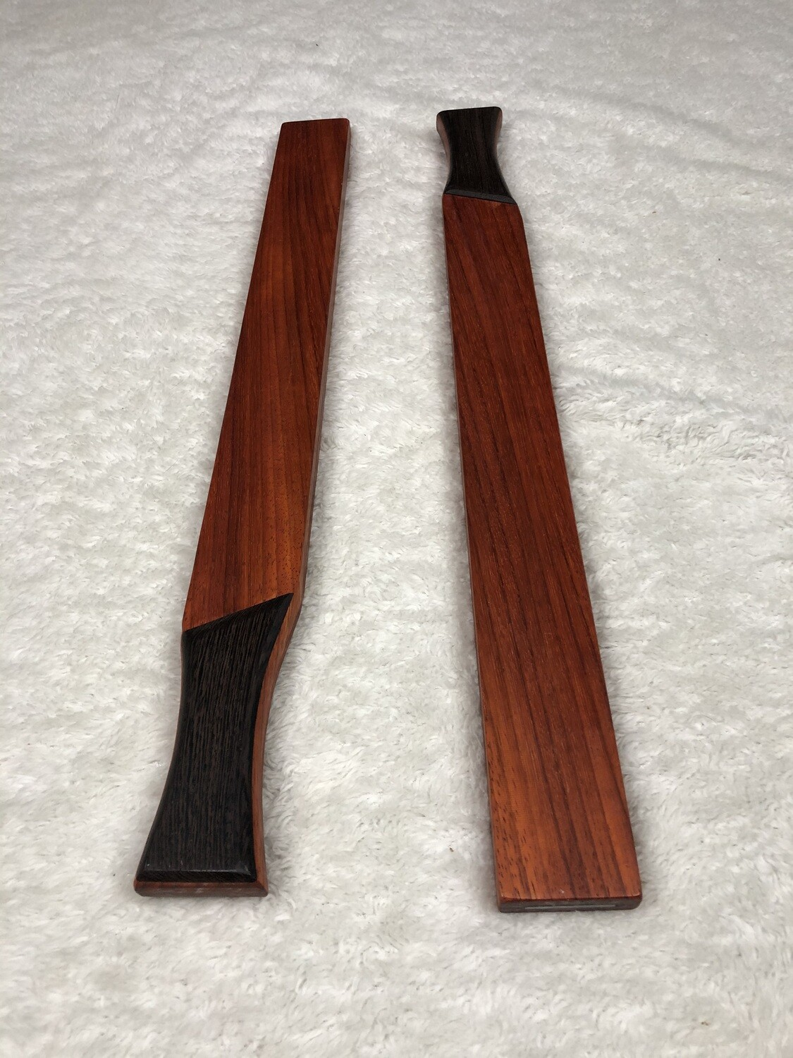 Tai Chi Sticks - 1.5 lbs - Padauk with Wenge Handles