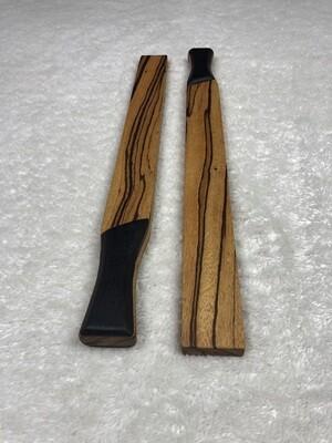Tai Chi Sticks - 2.5 lbs - Zebrawood with Wenge Handles