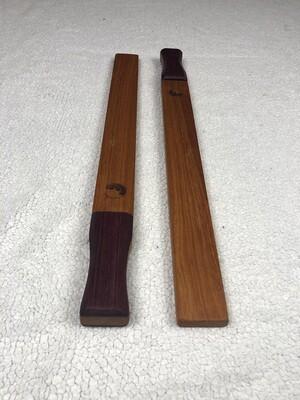 Tai Chi Sticks - 1 lb Mahogany with Purple Heart Handles