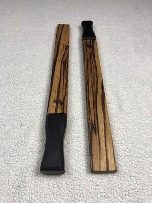 Tai Chi Sticks - 1 lbs Zebrawood with Wenge Handles