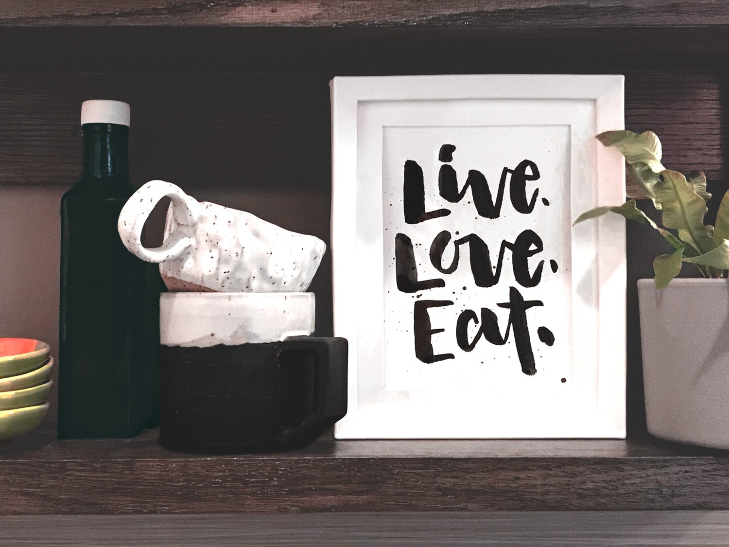 """Live, Love, Eat."" Original Print"