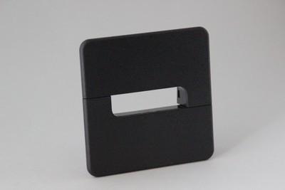 Kunststoff quadratisch schwarz