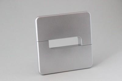 Kunststoff quadratisch mattchrom