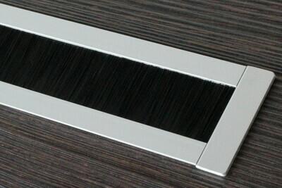 Kabelauslass TV - eckige Endkappe Bürste schwarz