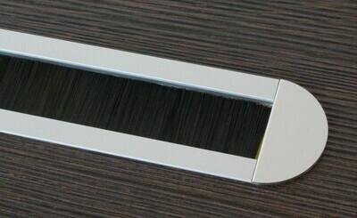 Kabelauslass TV - abgerundete Endkappen - Bürste schwarz