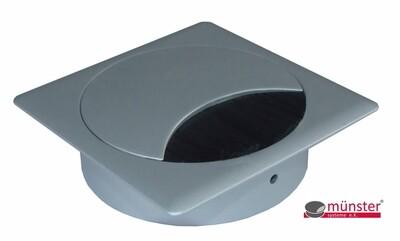 ZAMAK QUADRATISCH weiss aluminium