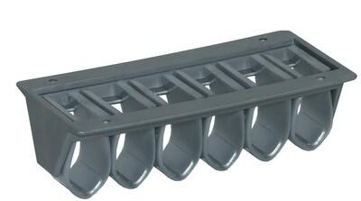 Kabelklemme Morsetto 5-fach grau (2 Stück)