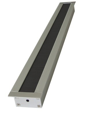 Kabelauslass TV breit - eckige Endkappe Bürste schwarz
