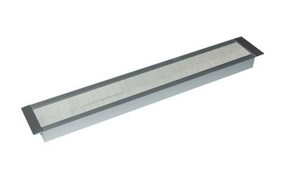 Kabelauslass TV 69mm breit - Bürste grau