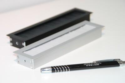 Kabelauslass TV kurz - eckige Endkappe Bürste schwarz