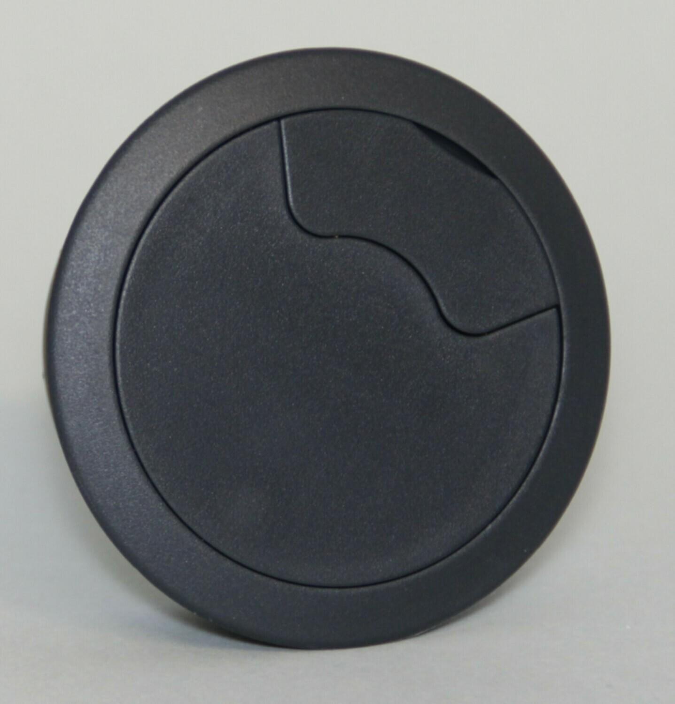 Kabelauslass Kunststoff schwarzgrau 60mm