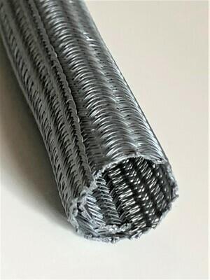 Kabelschlauch Acero - Ø19mm selbstschließend Silbergrau [m]