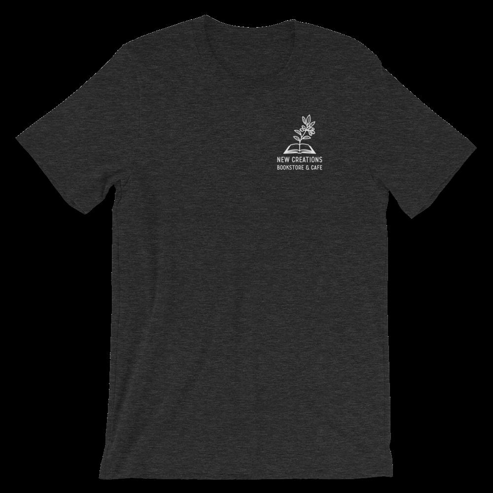 New Creations Bookstore & Cafe - Dark Grey Heather - T-Shirt - Unisex
