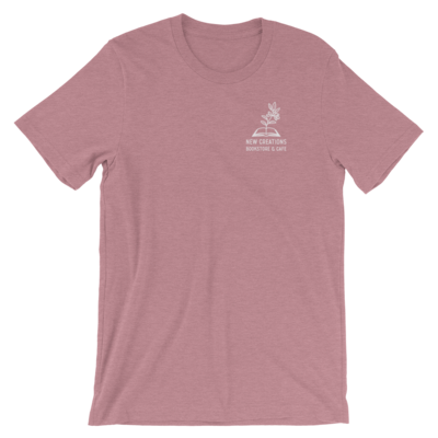 New Creations Bookstore & Cafe - Heather Orchid - T-Shirt - Unisex