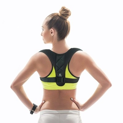 Medi Revive Posture Corrector-Discrete Comfortable Adjustable Brace - for Women, Men, Teens and Kids - Premium Breathable Upper Shoulder and Clavicle Support - Small Size