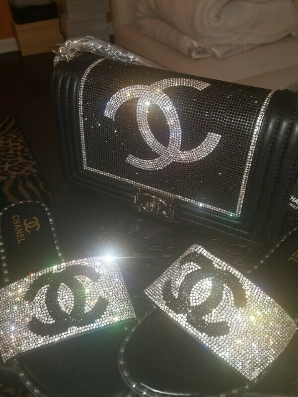 Chanel Inspired Slippers and Bag