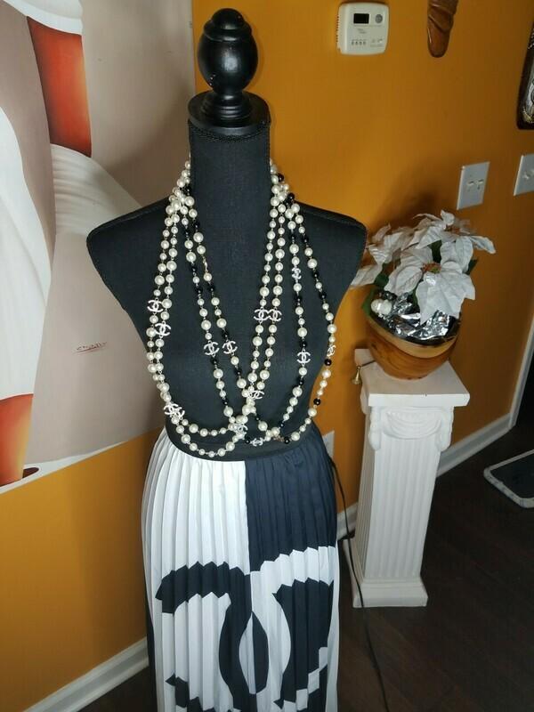 Chanel Inspired Elegant Necklace