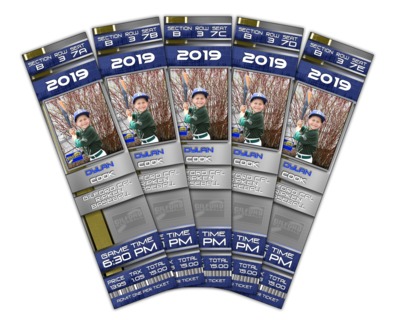 Game Day Ticket Magnets