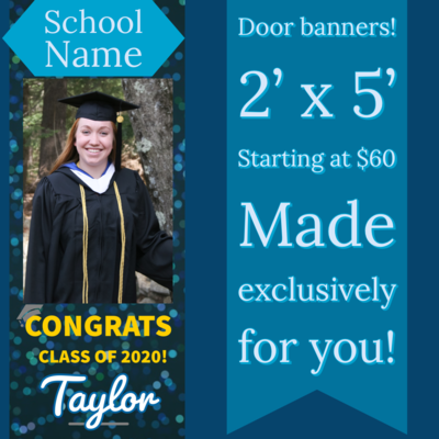 Door Banners for Graduation