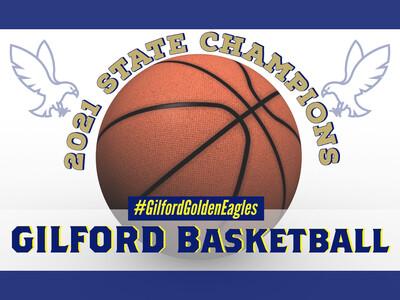 Gilford Basketball 2021 Yard Sign