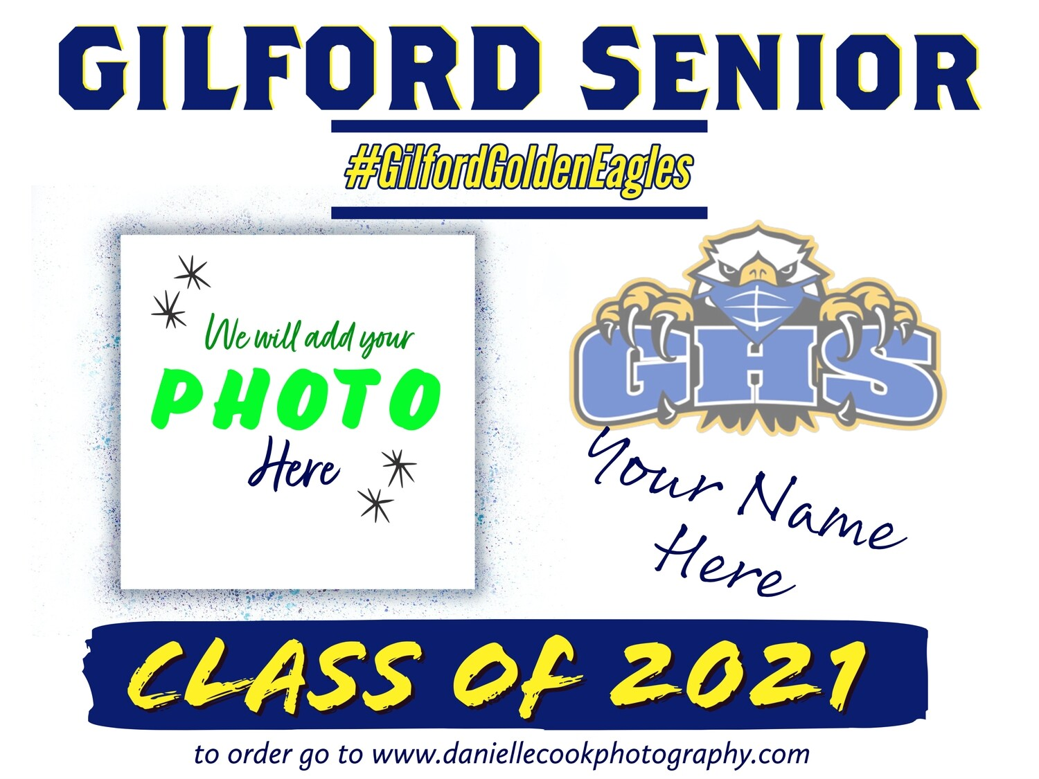 GILFORD YARD SIGNS Class Of 2021 (Customized)