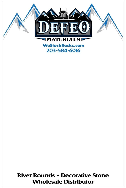 DeFeo Materials Note Pad