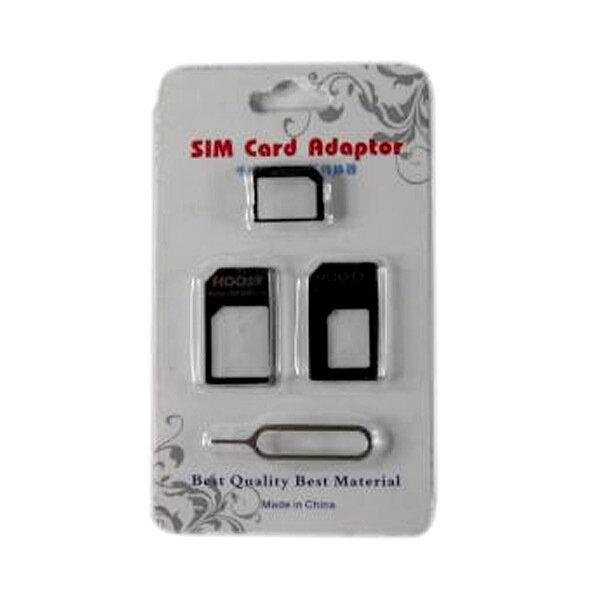 3 in 1 Sim Card Adaptor with Opening Pin