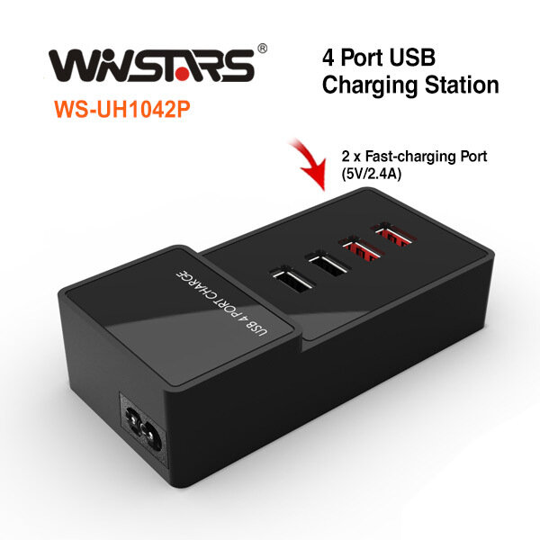 4 Port USB AC (SAA approval) Charge Station ( include 2 x 2.4A fast charging Port)