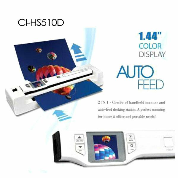 Digitalk 2-in-1 Combo Portable A4 1200DPI Photo & Document Scanner (CI-HS510D)
