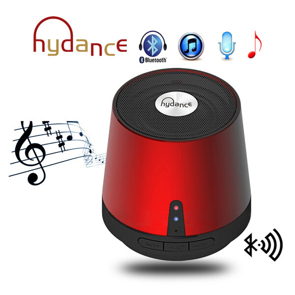 HYDANCE MAXI SOUND MP3 Player with Mini Bluetooth Speaker & Power Bank - RED