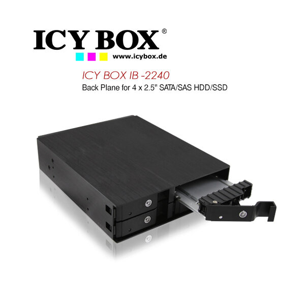 "ICY BOX Backplane for 4x 2.5"" (6.35 cm) SATA / SAS HDDs or SSDs (IB-2240SSK)"