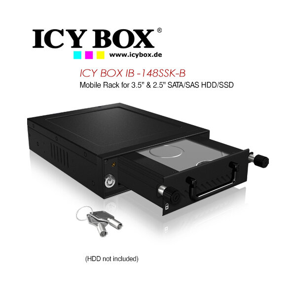 "ICY BOX Mobile Rack for 3.5"" & 2.5"" SATA/SAS HDD and SSD (IB-148SSK-B)"