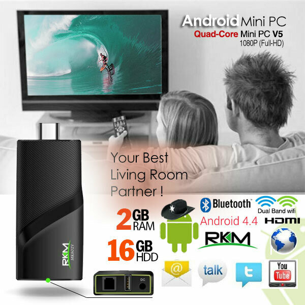 RKM V5 Quad Core 4K mini PC RK3288 2G DDR3/16G ROM/BT 4.0 Dual Band/Wifi /Gbit Lan/Andriod