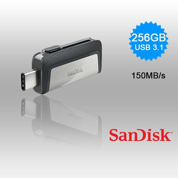 SANDISK 256GB Dual  USB 3.1 Type-C Flash Drive -SDDDC2-256G