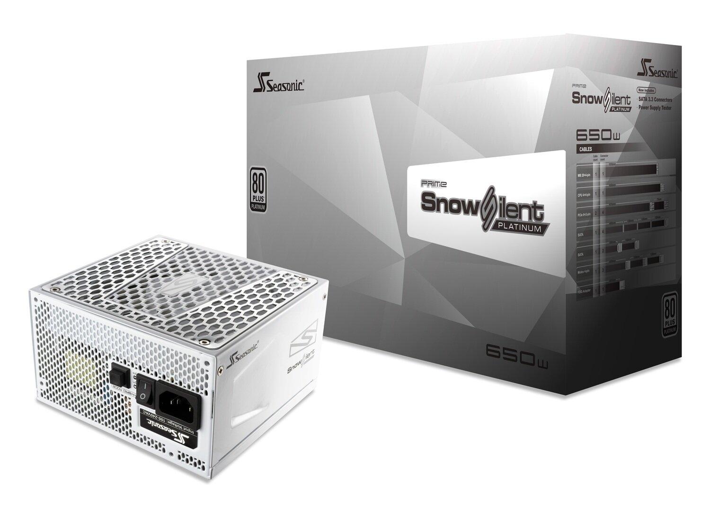 SeaSonic 650W PRIME Snow Silent Platinum PSU (SSR-650PD2-SNOWSILENT)