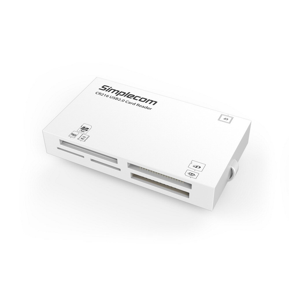 Simplecom CR216 USB 2.0 All in One Memory Card Reader 6 Slot for MS M2 CF XD Micro SD HC SDXC White