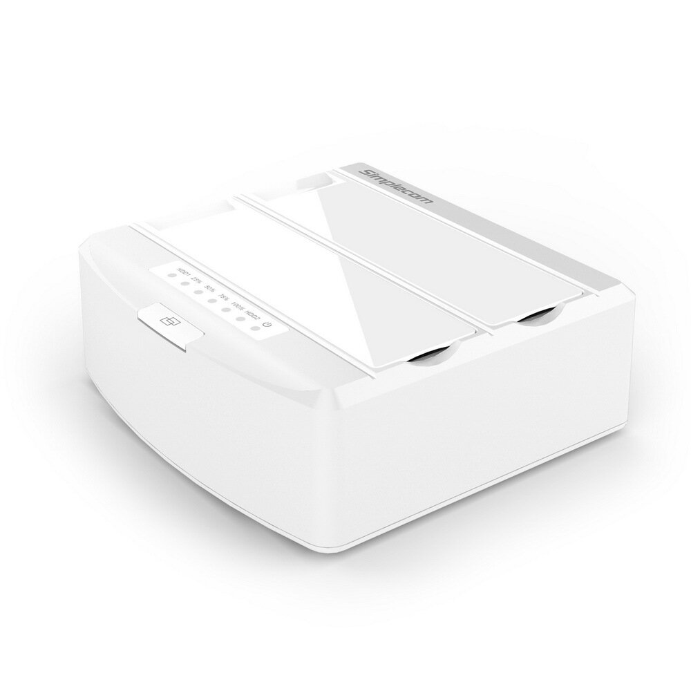 """Simplecom SD312 Dual Bay USB 3.0 Docking Station for 2.5"""" and 3.5"""" SATA Drive White"""