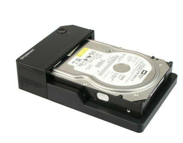 "Simplecom SD323 USB 3.0 Horizontal SATA Hard Drive Docking Station for 3.5"" 2.5"" HDD Black"