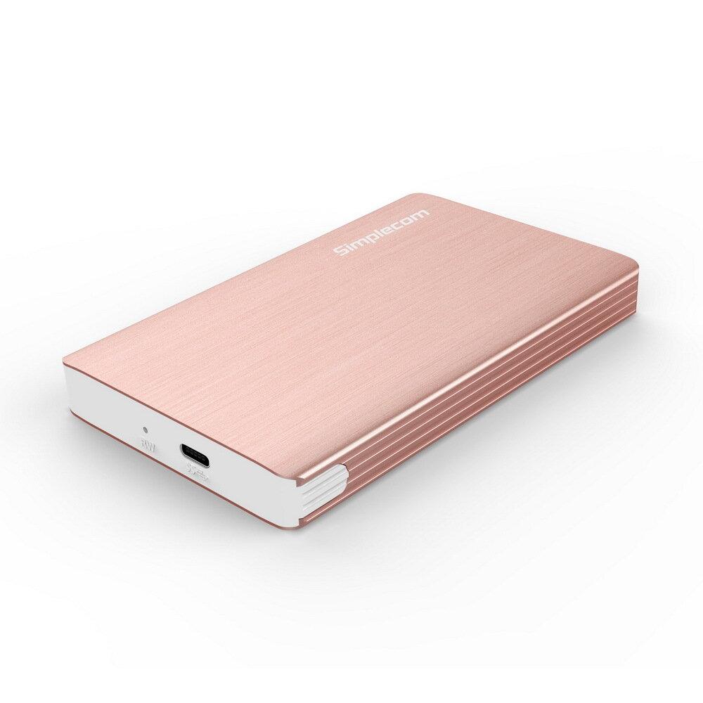 Simplecom SE220 Aluminium Tool-Free 2.5'' SATA HDD/SSD to USB 3.1 Type C Enclosure Rose Gold