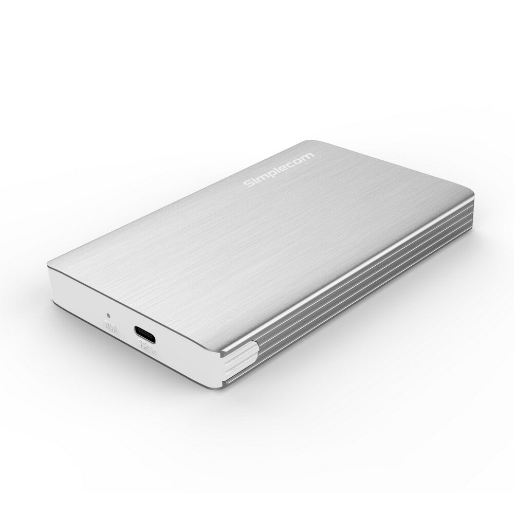 Simplecom SE220 Aluminium Tool-Free 2.5'' SATA HDD/SSD to USB 3.1 Type C Enclosure Silver