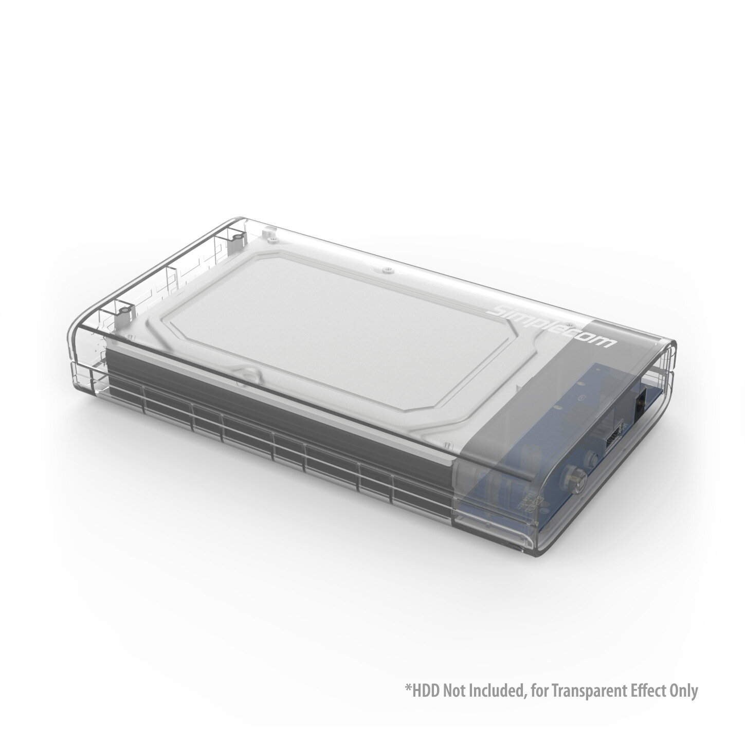 "Simplecom SE301 3.5"" SATA to USB 3.0 Hard Drive Docking Enclosure Clear"