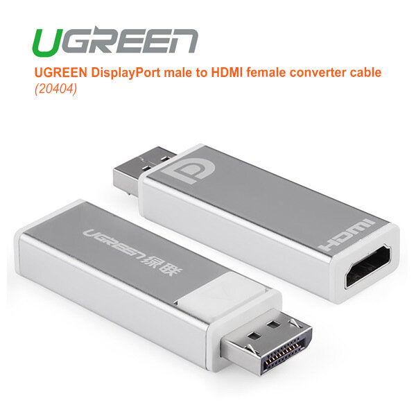 UGREEN DisplayPort Male to HDMI Female Converter (20401)